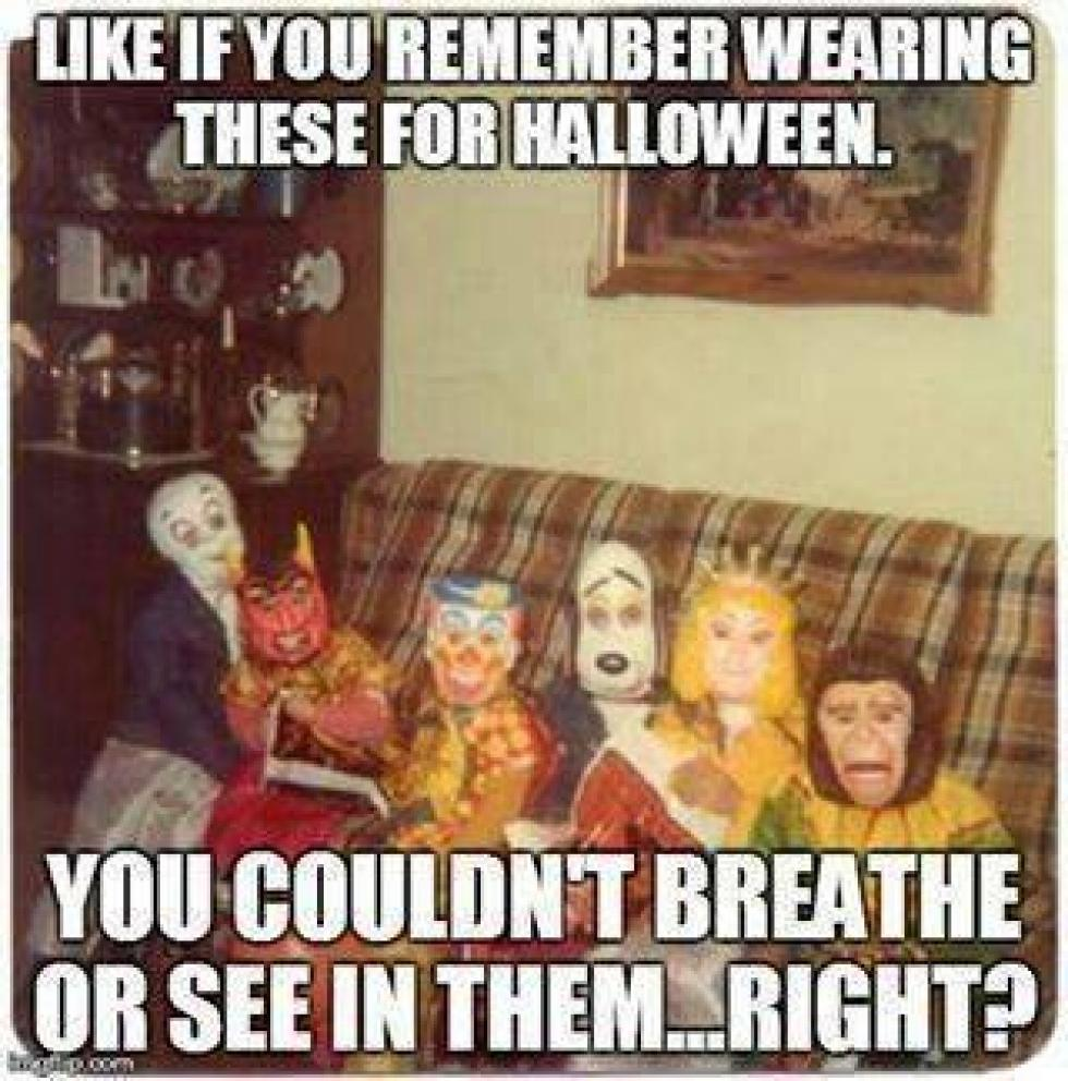 do you remember these halloween costumes from when we were kids