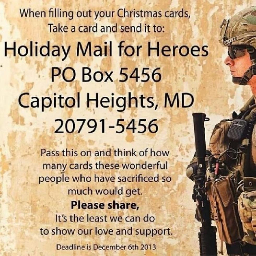 heres how to send a holiday card to a hero - When To Send Christmas Cards